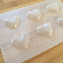Load image into Gallery viewer, 1.4 inch Geometric Heart Plastic Mold