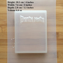 Load image into Gallery viewer, 6.6 oz Death Book Plastic Mold - Molds for Soap and Bath Bombs