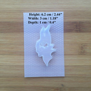 Dark Fairy Plastic Mold - Head Silhouette - Dragon