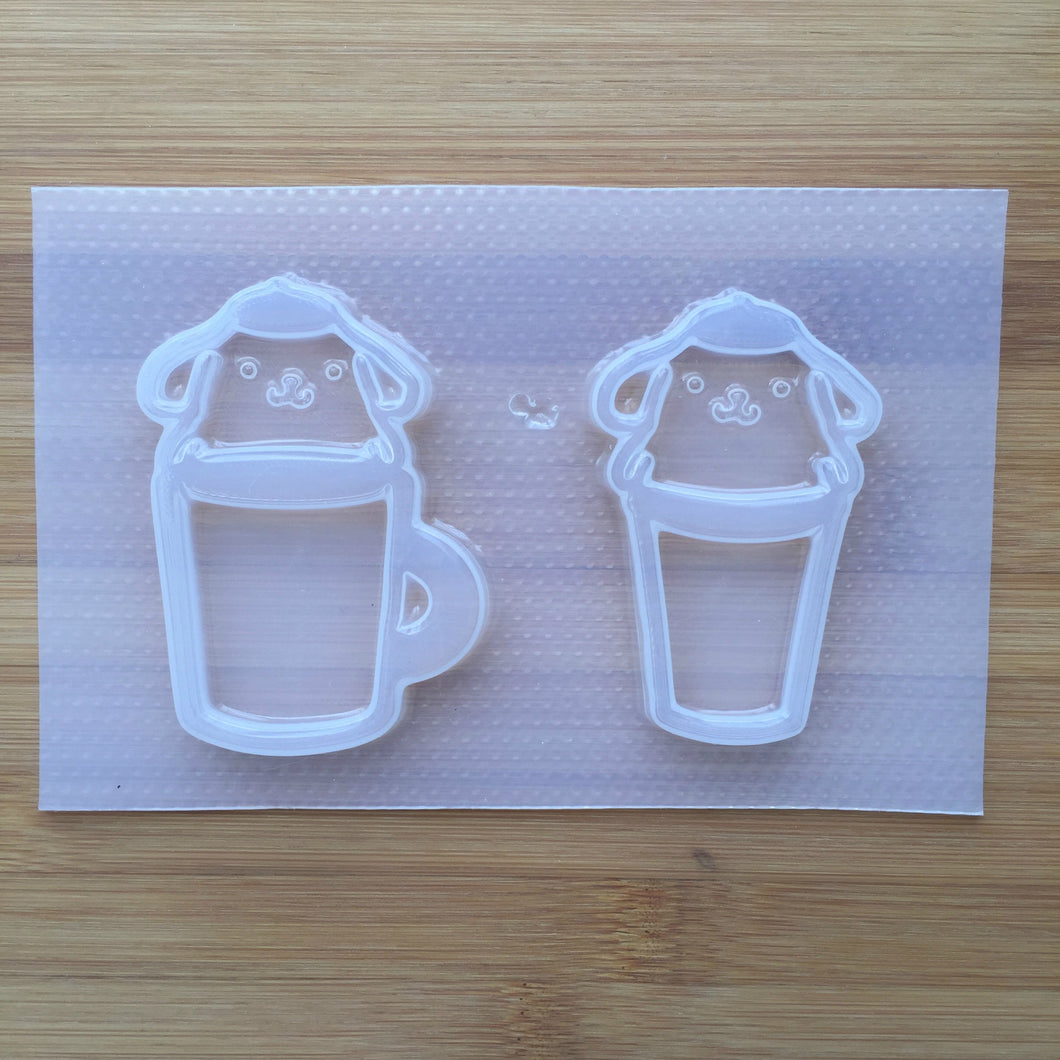 Kawaii Dog Cup Shaker Plastic Mold