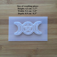 Load image into Gallery viewer, Pentacle Triple Moon Plastic Mold