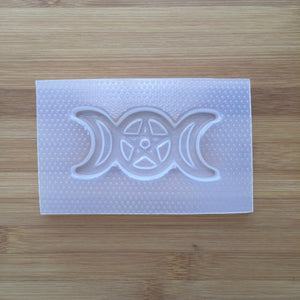 Pentacle Triple Moon Plastic Mold