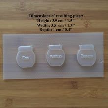 Load image into Gallery viewer, Small Tea & Coffee & Sugar Jars Plastic Mold