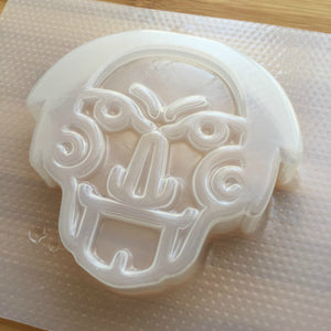5.3 oz Creepy Face Plastic Mold