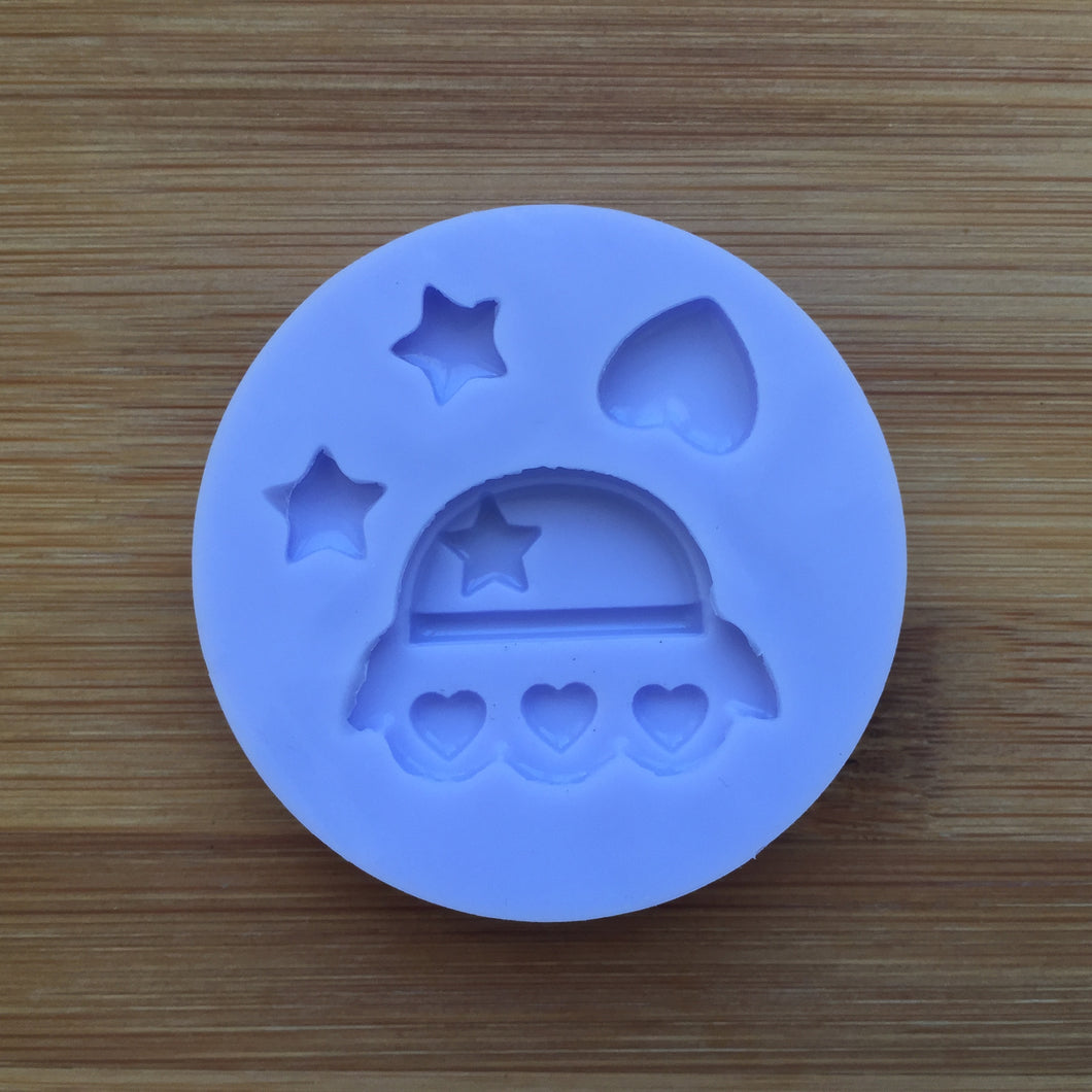 Kawaii UFO Spaceship Silicone Rubber Mold