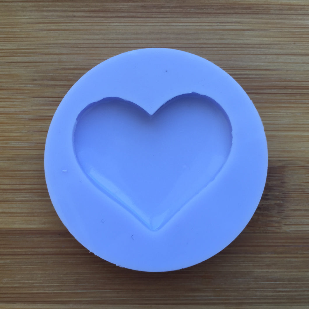 Small Puffy Heart Silicone Rubber Mold