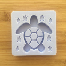 Load image into Gallery viewer, Turtle Shaker Silicone Mold - with shaker bits