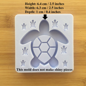 Turtle Shaker Silicone Mold - with shaker bits