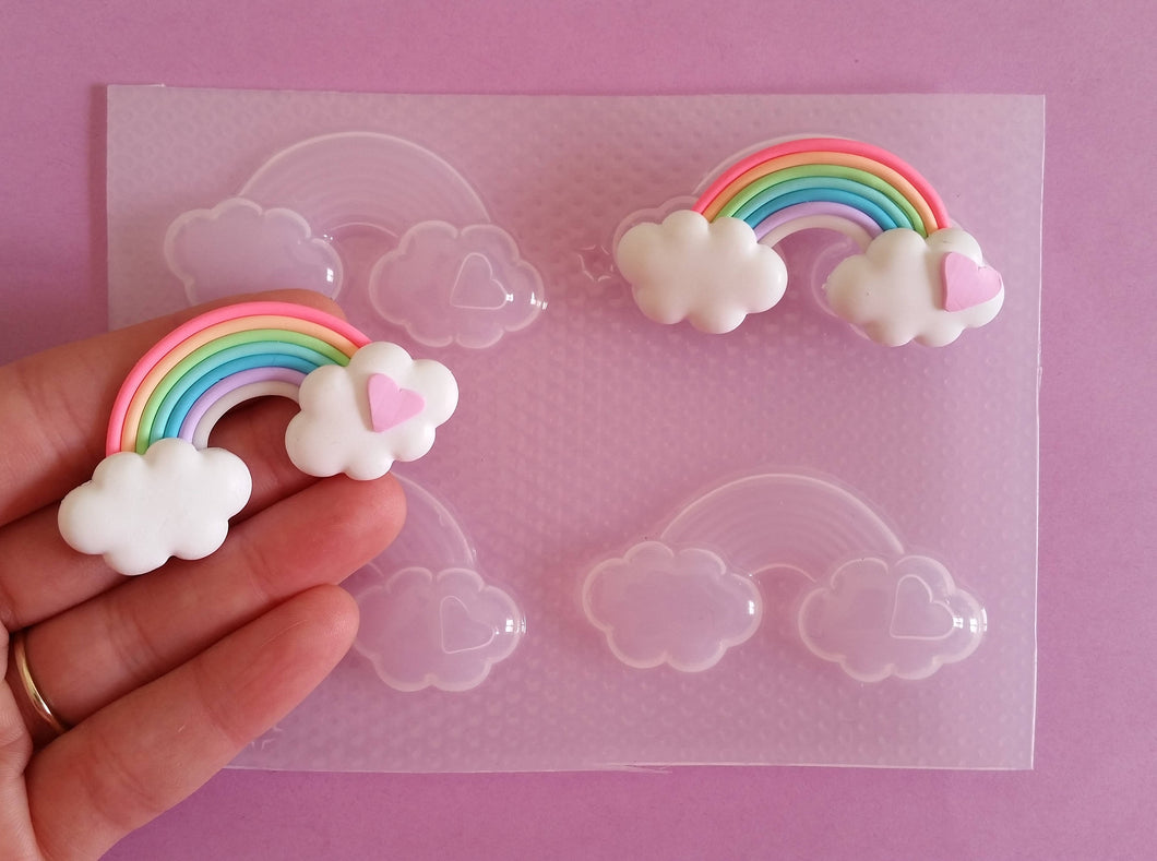 Large 3D Rainbow Clouds Mold