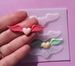 Small Angel Hearts Mold