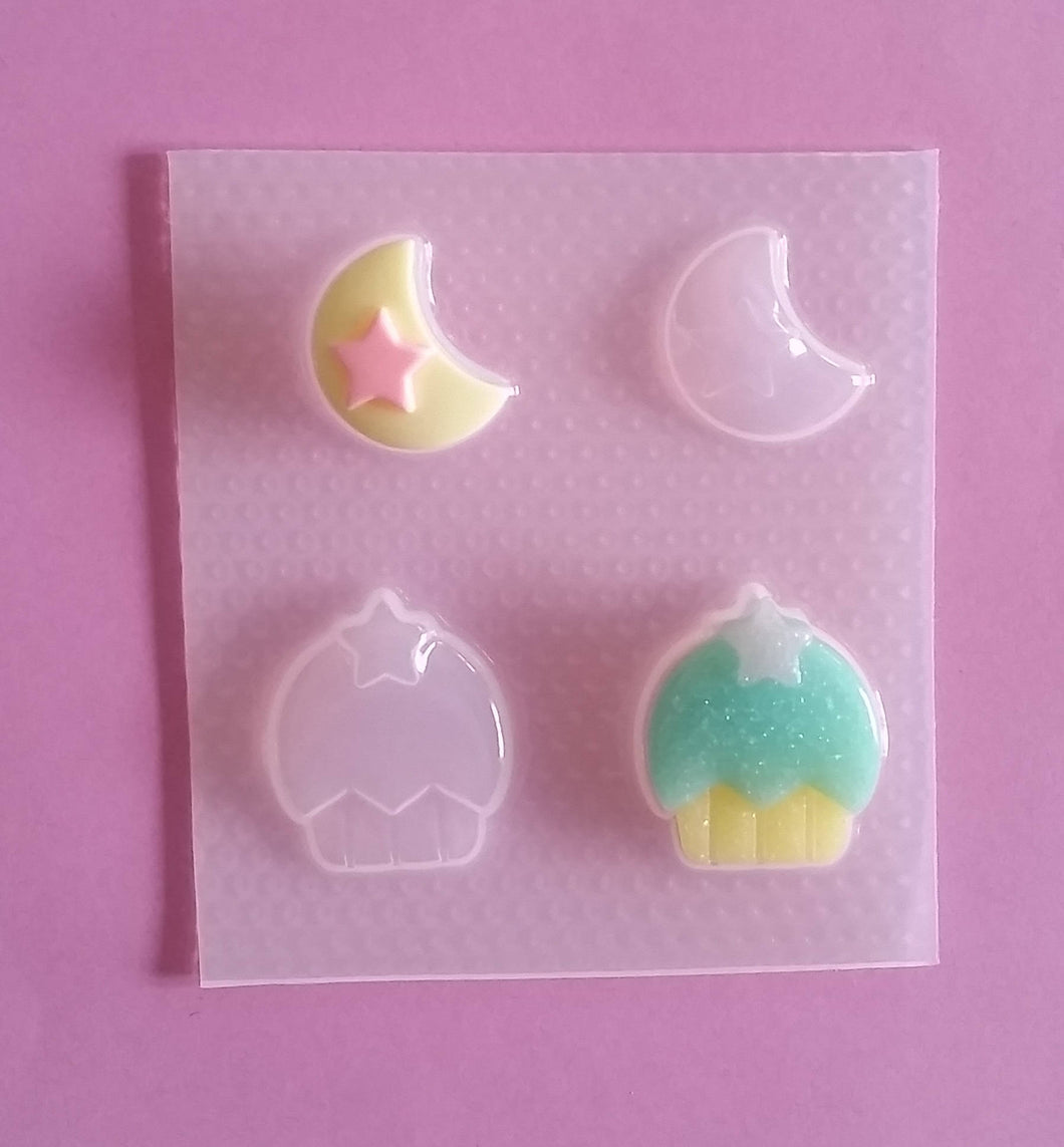 Small Star Moon Cupcake Mold