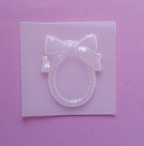 Large Bow Cameo Frame Mold