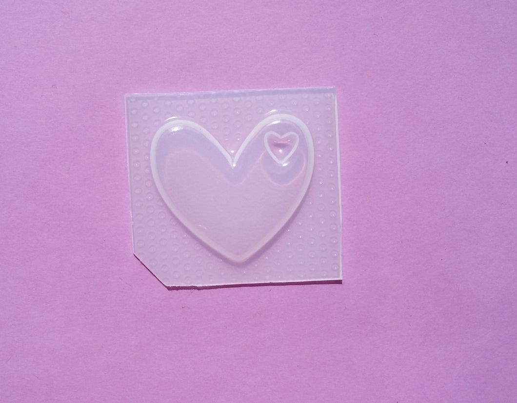 Small Flat Heart Mold