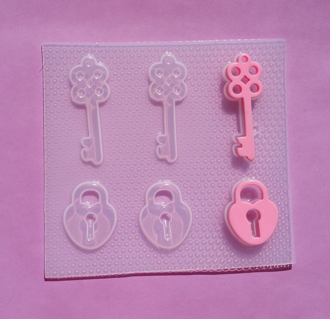 Heart Locket Key Mold