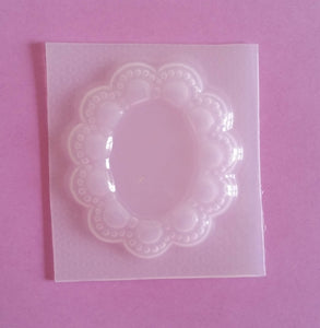 Fancy Cameo Frame Setting Mold