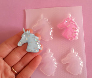 Unicorn Head Silhouette Mold