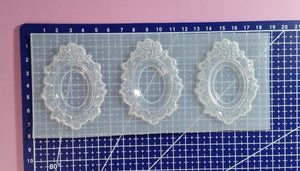 Large Flowers Cameo Frame Setting Mold