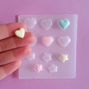 Tiny Bubble Hearts & Star Mold