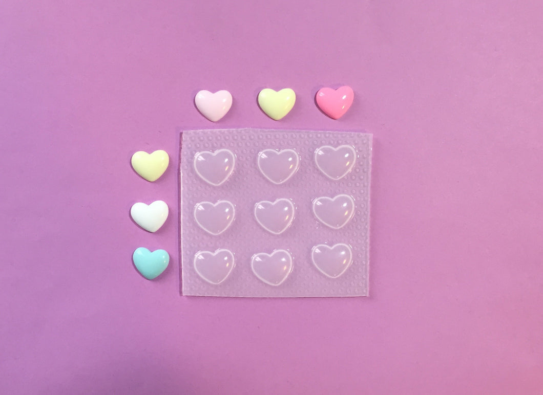 Tiny Bubble Heart Mold