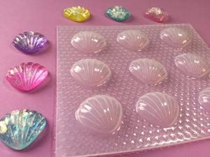 Small Puffy Round Seashells Mold
