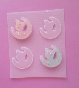 Kawaii Moon Cat Silhouette Mold
