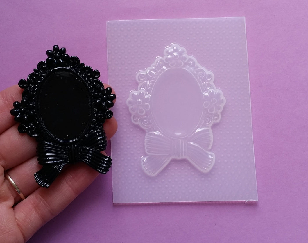 Flowers Bow Cameo Frame Setting Mold