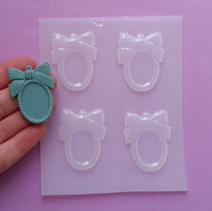 Small Bow Cameo Frame Setting Mold