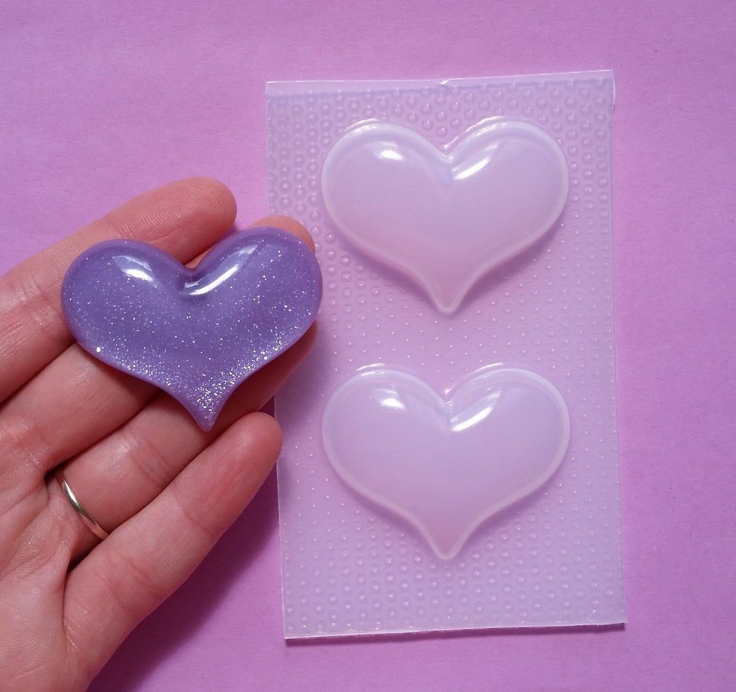 Large Bubble Barbie Heart Mold