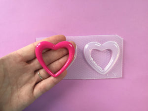 Large Hollow Bubble Heart Mold