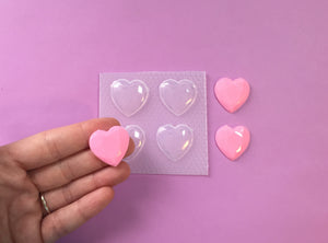Small Faceted Heart Gem Mold