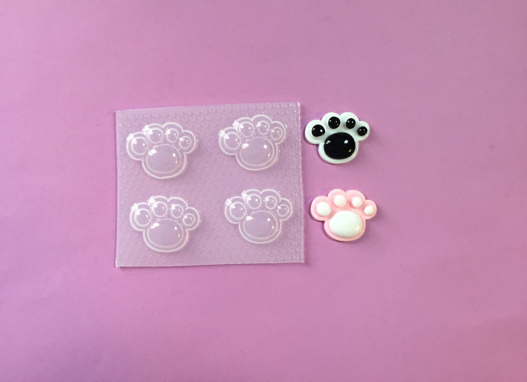 Small 3D Paw Print Mold