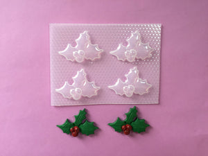 Christmas Holly Mold