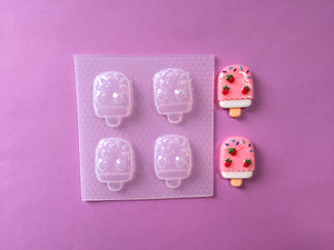 Strawberry Ice Cream Lolli Mold