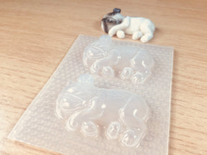 Sleeping French Bull Dog Mold