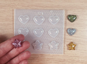 Small Hearts and Stars Mold