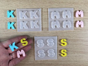 Letters K/M/S Mold