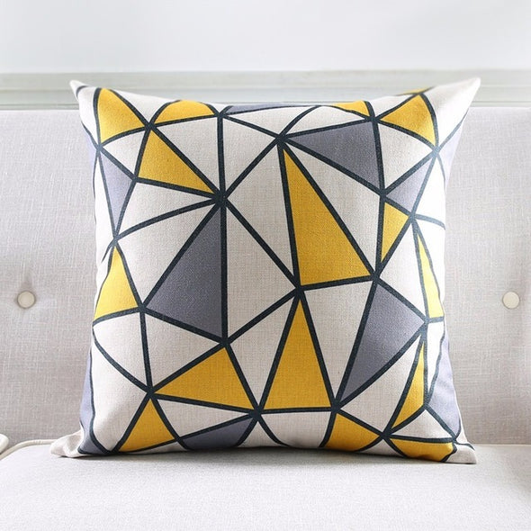 Geometric Cushion Cover-CloudyComfort-Geometric-CloudyComfort