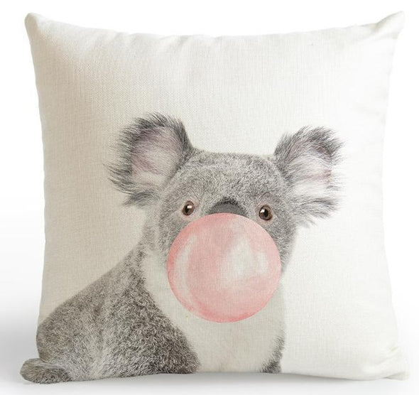 Zoo Pink Cushion Cover-CloudyComfort-Koala-CloudyComfort