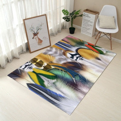 3D Print Hallway Carpet-CloudyComfort-Feathers-800mm x 1200mm-CloudyComfort
