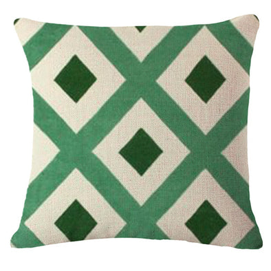 Nordic Green Cushion Cover-CloudyComfort-Dark Green-CloudyComfort