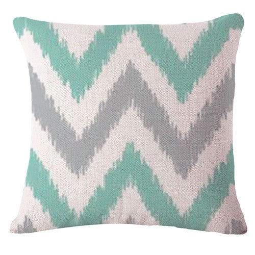 Nordic Green Cushion Cover-CloudyComfort-Grey-CloudyComfort