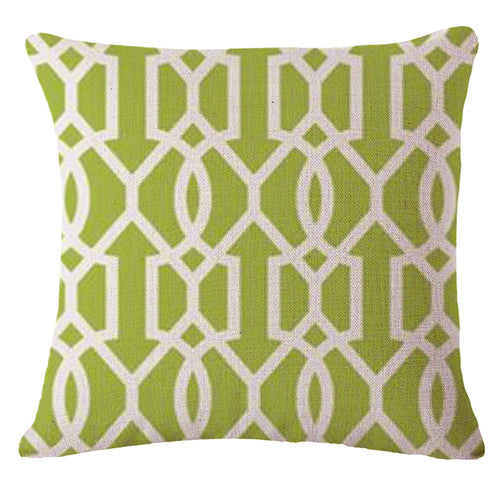 Nordic Green Cushion Cover-CloudyComfort-Green-CloudyComfort