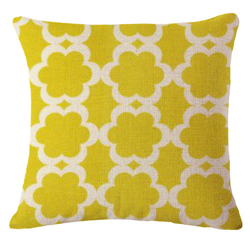 Nordic Green Cushion Cover-CloudyComfort-Yellow-CloudyComfort