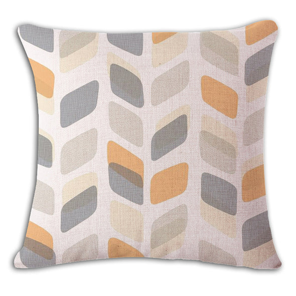 Nordic Green Cushion Cover-CloudyComfort-Grey Yellow-CloudyComfort
