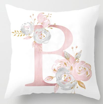 Alphabet Letter Cushion Cover-CloudyComfort-B-CloudyComfort