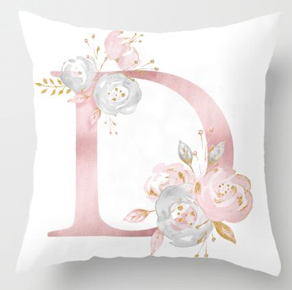 Alphabet Letter Cushion Cover-CloudyComfort-D-CloudyComfort