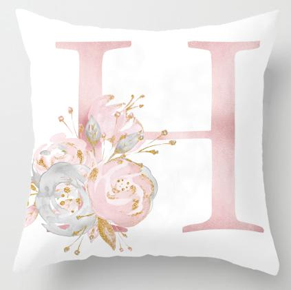 Alphabet Letter Cushion Cover-CloudyComfort-H-CloudyComfort
