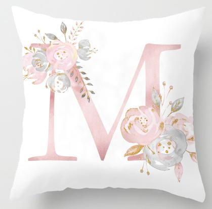 Alphabet Letter Cushion Cover-CloudyComfort-M-CloudyComfort