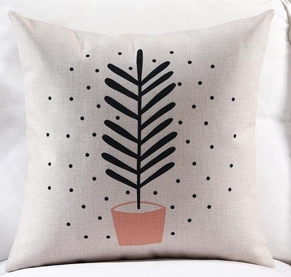 Nordic Minimalist Decor Cactus Cushion-CloudyComfort-Leaf-45x45cm-CloudyComfort