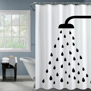 Classic Nordic Shower Curtain-CloudyComfort-White-CloudyComfort